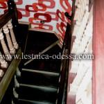 Лестница деревянная из бука (массив), комбинированная