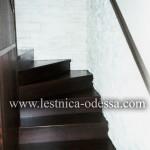 Лестница деревянная из дуба (массив), цвет - венге
